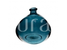 Apvali perdirbto stiklo vaza BLUE