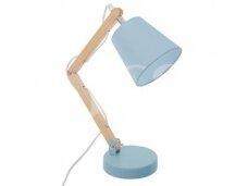 Medinis pastatomas mėlynas  šviestuvas