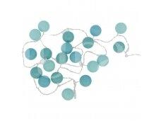 Medvilninių kamuoliukų grilianda mėlyna