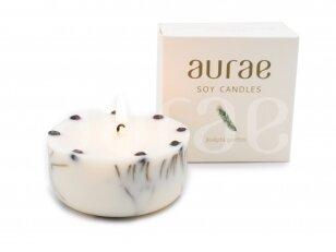 Natūralaus sojų vaško žvakė su eglės spygliais 250 g