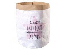 Popierinis maišas daiktams rožinis
