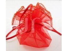Raudonas maišelis apvalus