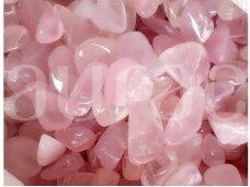 Rožinio kvarco gabalėliai