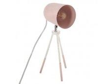 Rožinis pastatomas šviestuvas metalinis