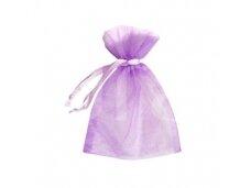 Violetinis organza maišelis 9x7 cm